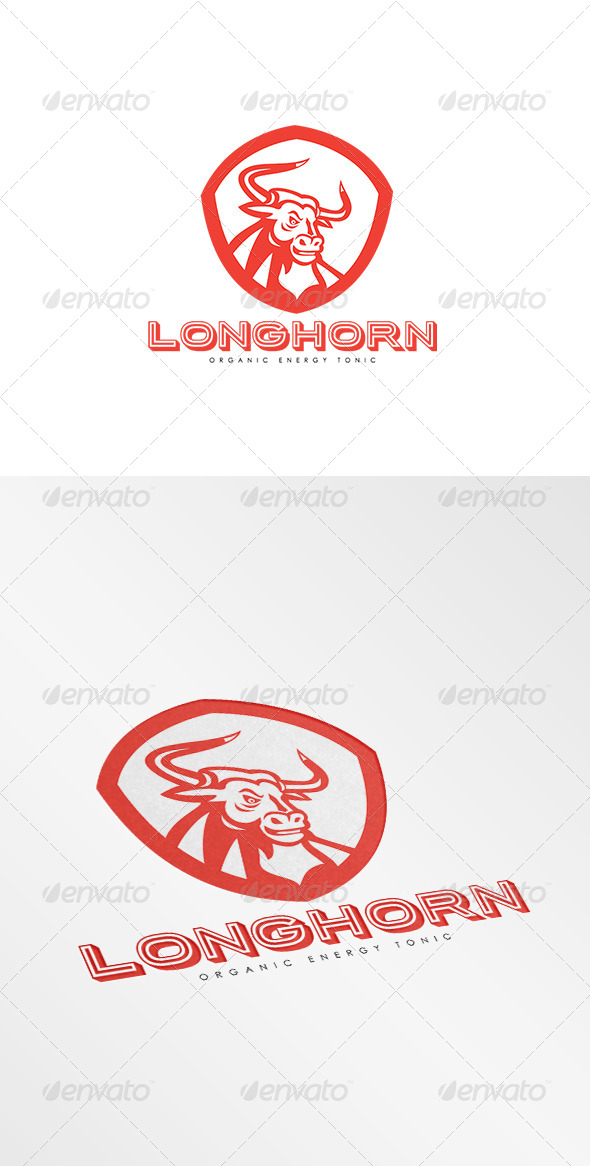 GraphicRiver Longhorn Energy Tonic Logo 8494965