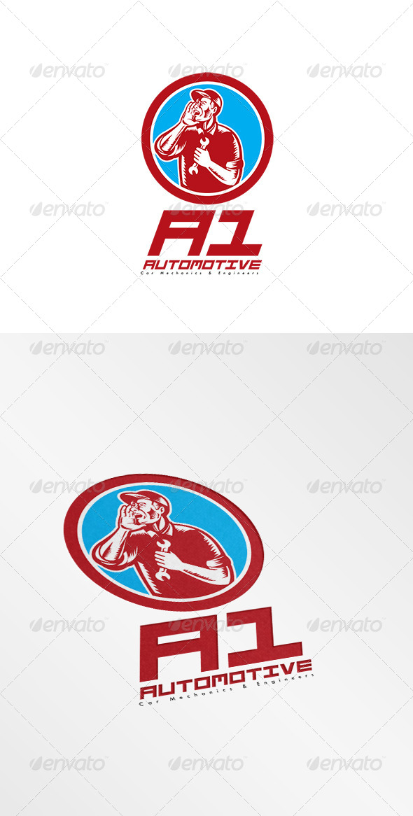 GraphicRiver A1 Car Mechanic Logo 8494981