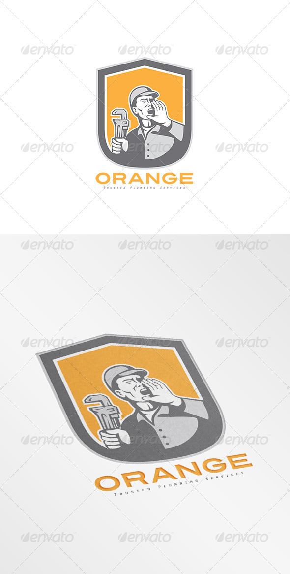 GraphicRiver Orange Trusted Plumbing Services Logo 8494989