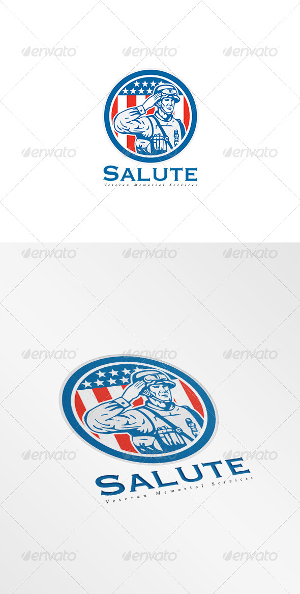 GraphicRiver Salute Veteran Memorial Services Logo 8495019