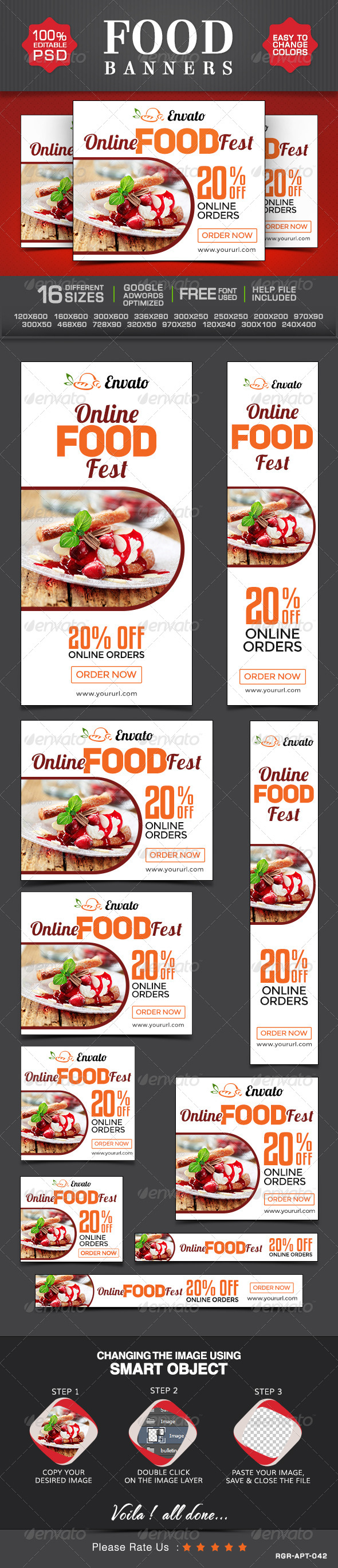 GraphicRiver Restaurant and Cafe Banners 8495023