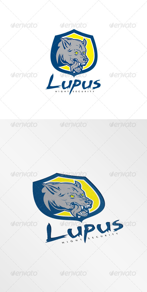 GraphicRiver Lupus Night Security Logo 8495025