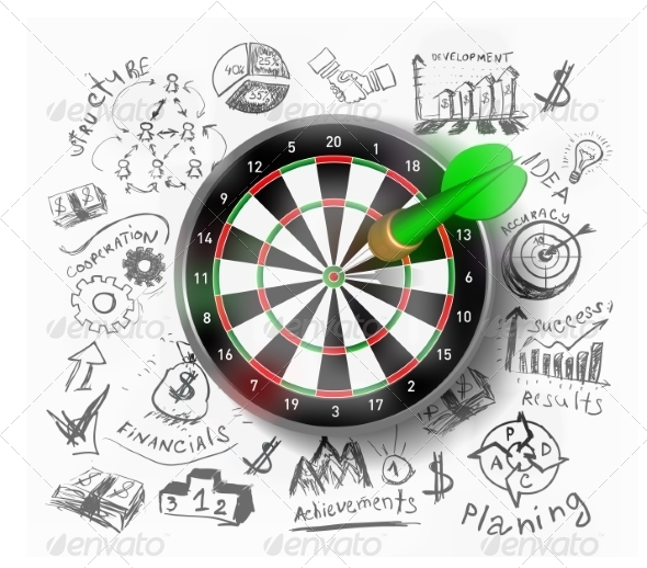 GraphicRiver Realistic Vector Target Illustration 8495094