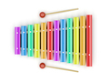 Colorful xylophone with mallets - PhotoDune Item for Sale