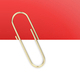 Gold paper clip holding a blank paper sheet - PhotoDune Item for Sale