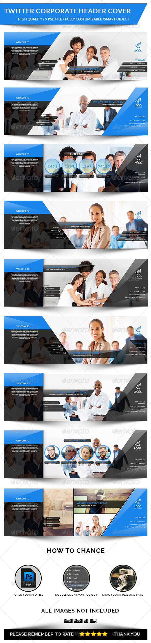 GraphicRiver Twitter Corporate Header Cover 8495100