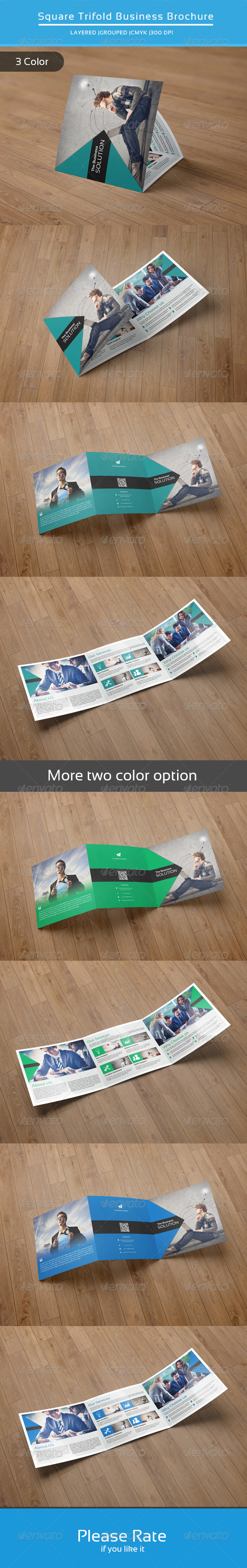 GraphicRiver Square Trifold Business Brochure-V22 8495248