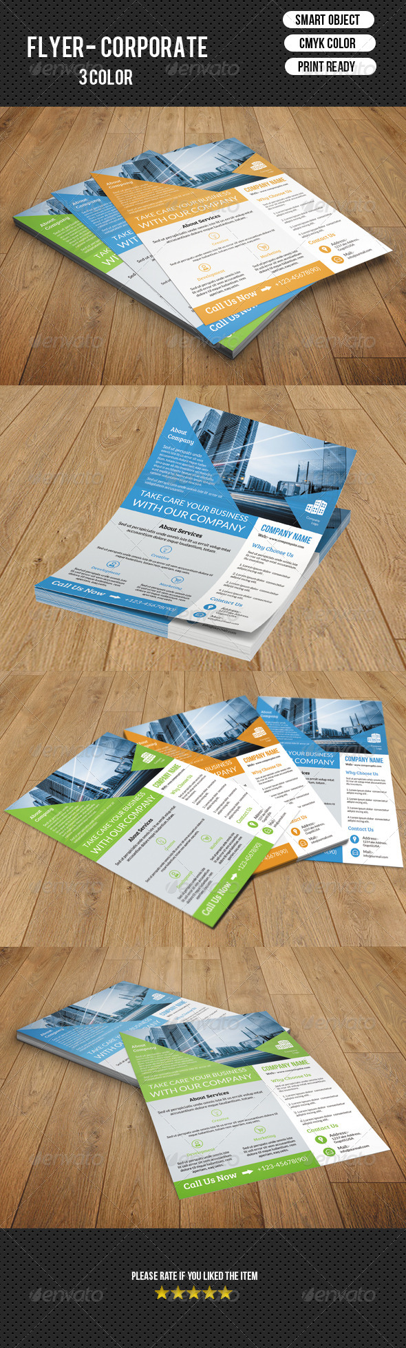 GraphicRiver Corporate Flyer Template-V97 8495288