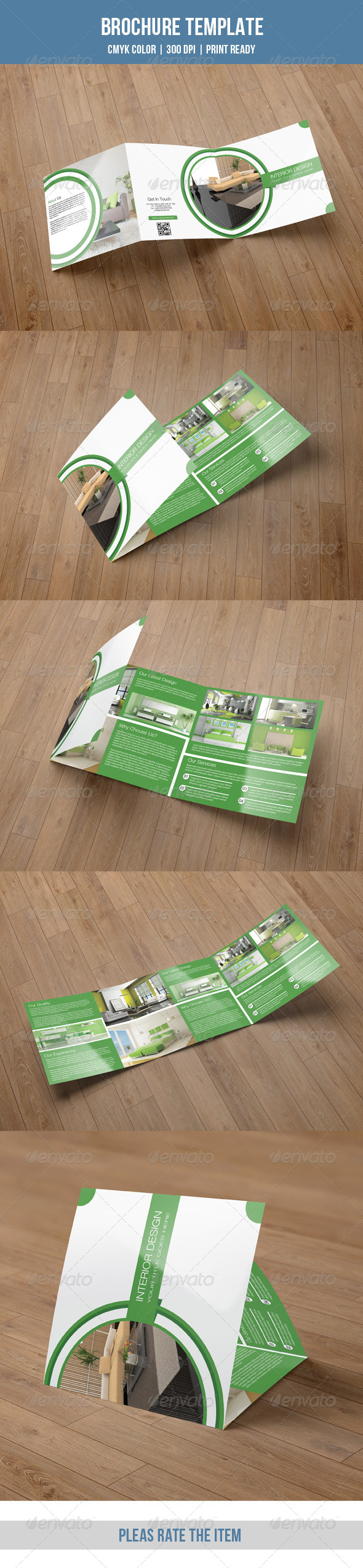 GraphicRiver Green Interior Square Trifold-V23 8495308