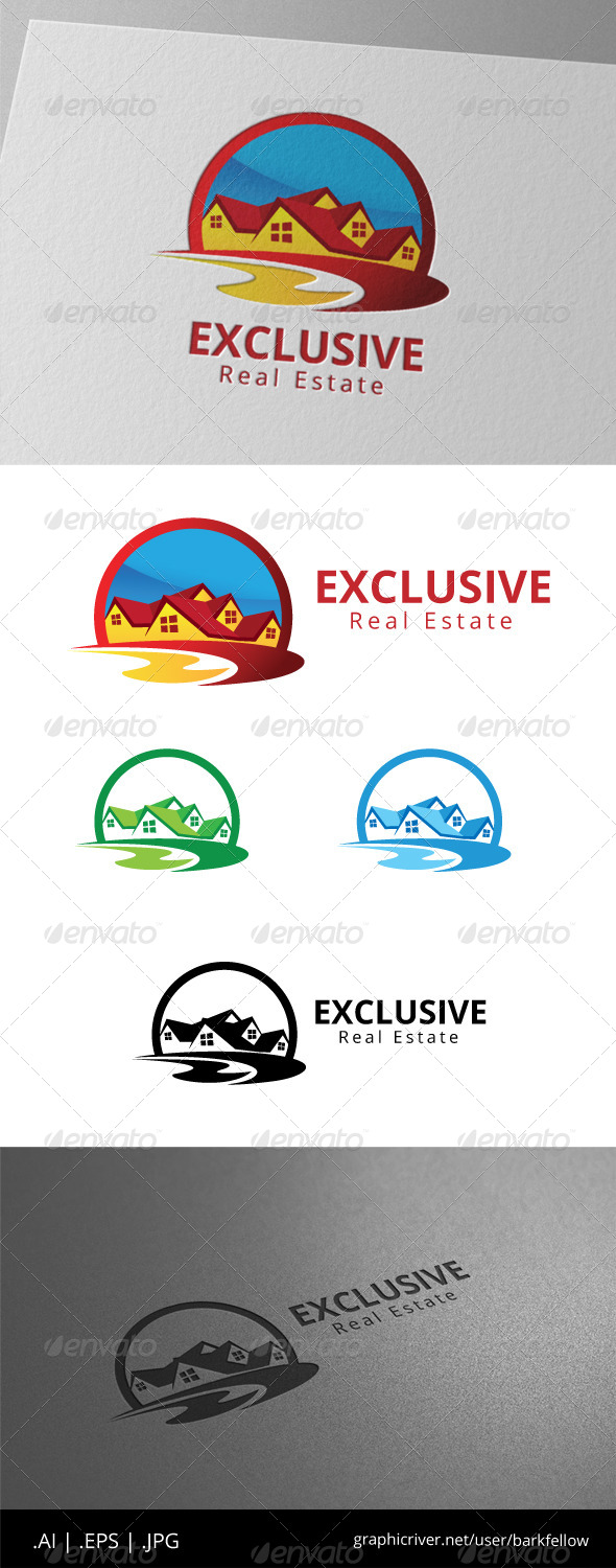 GraphicRiver Exclusive Real Estate Home Realty Logo 8495340