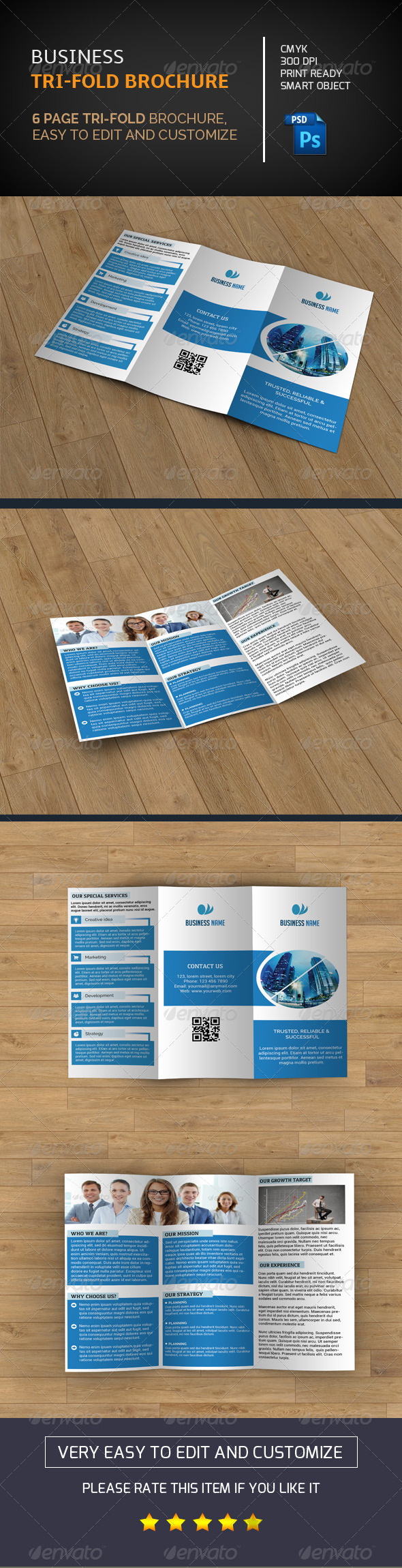 GraphicRiver Business Trifold Brochure-V43 8495374