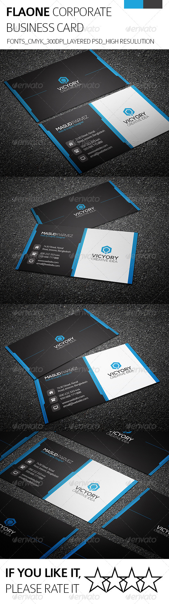 GraphicRiver Flaone & Corporate Business Card 8495501