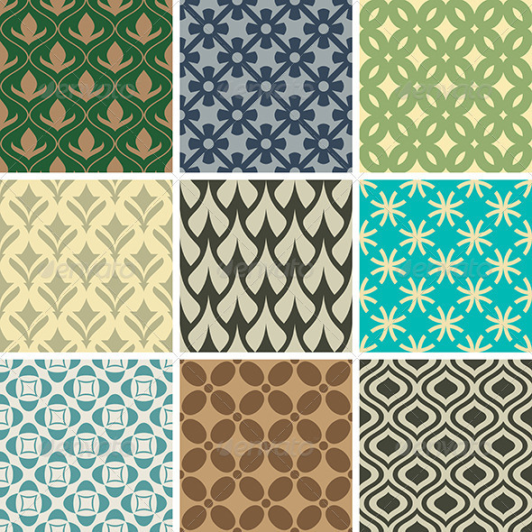 GraphicRiver Abstract Vector Seamless Patterns 8495502