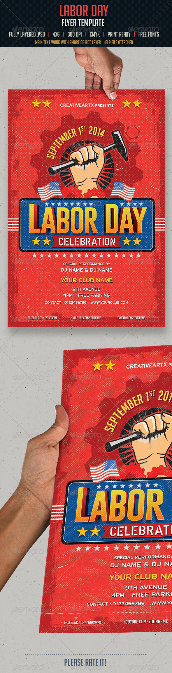 GraphicRiver Labor Day Flyer 8495503