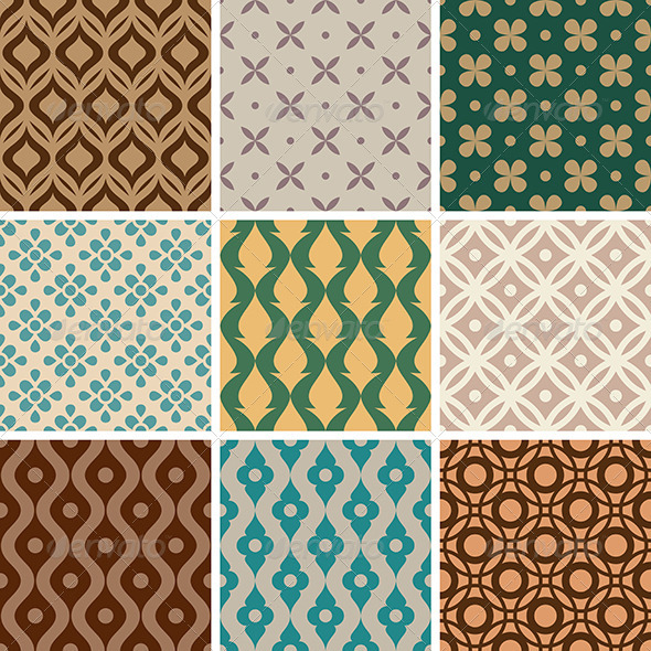 GraphicRiver Abstract Vector Seamless Patterns 8495504