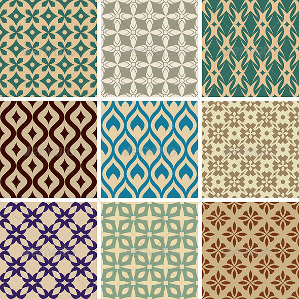 GraphicRiver Abstract Vector Seamless Patterns 8495505