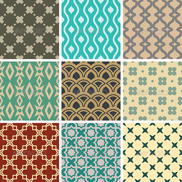 GraphicRiver Abstract Vector Seamless Patterns 8495558