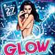 Glow Party Flyer Template PSD - GraphicRiver Item for Sale