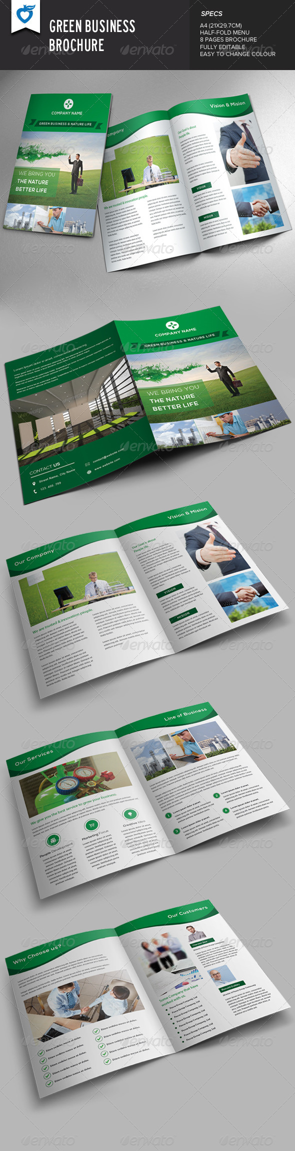 GraphicRiver Green Business Brochure 8495704