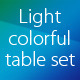 Light Colorful Table Set - GraphicRiver Item for Sale