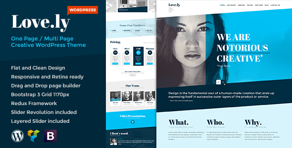 ThemeForest Love.ly Simple & Elegant WordPress theme 8428221