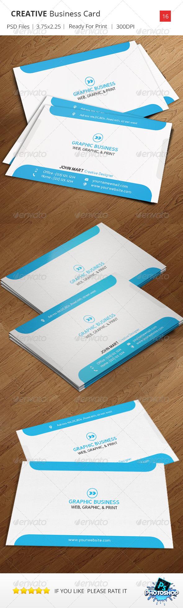 GraphicRiver Creative Business Card v.16 8495900