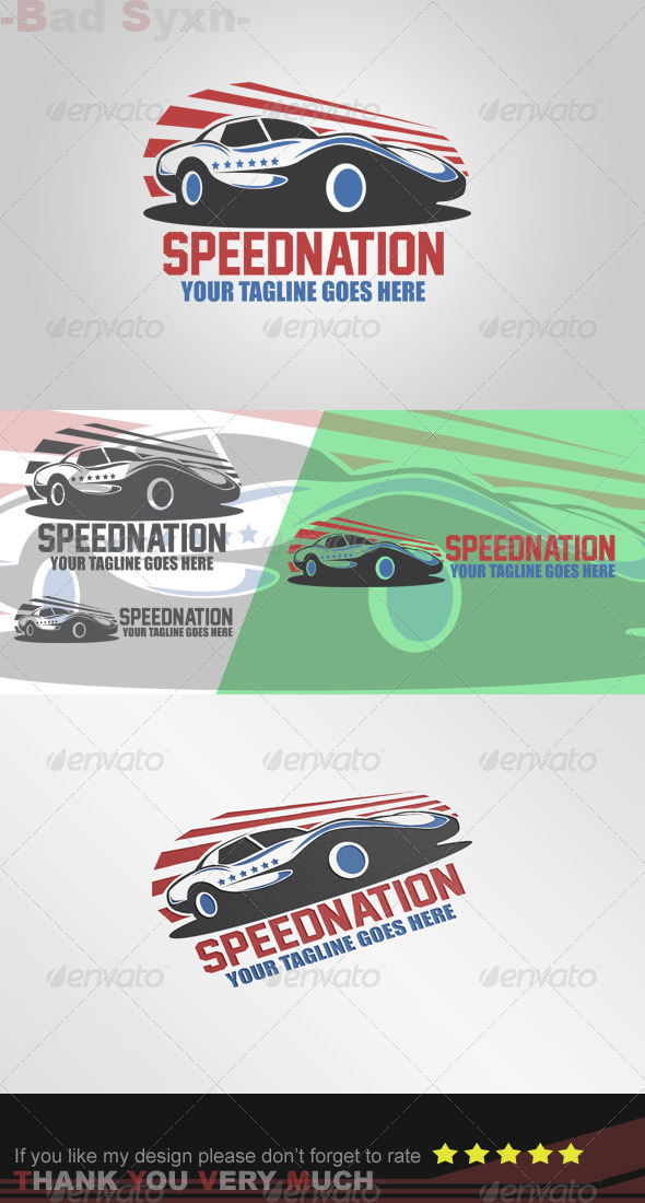 GraphicRiver Speednation Logo Template 8495966