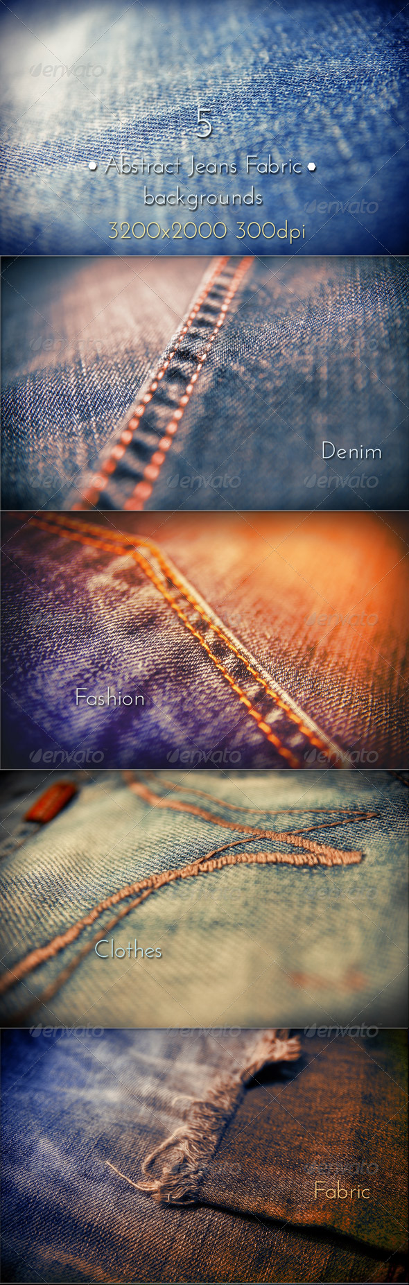 GraphicRiver Abstract Jeans Fabric 8495984