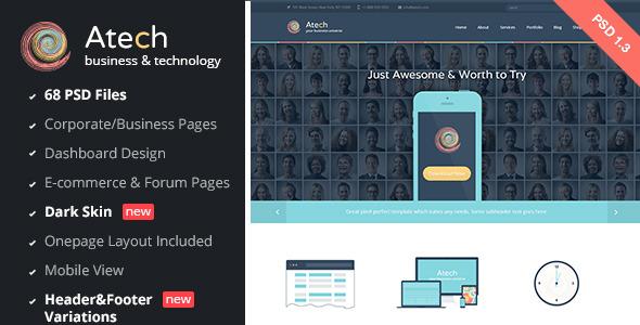 Atech - Business & Technology PSD Template