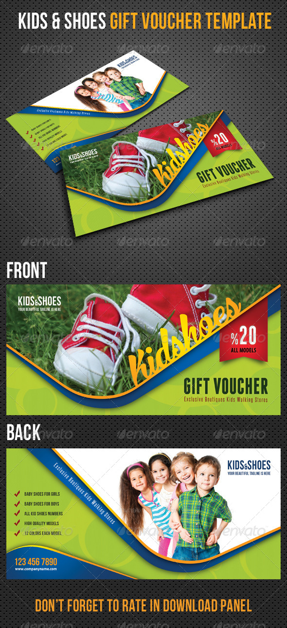 GraphicRiver Kids and Shoes Gift Voucher V27 8496070