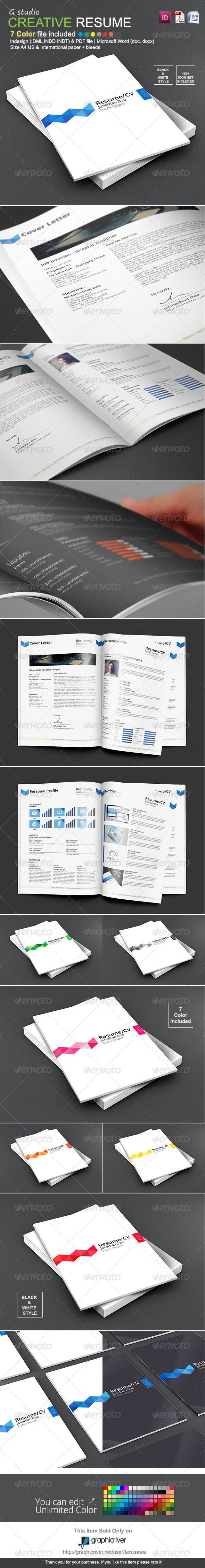 GraphicRiver Gstudio Creative Resume Template 8496192