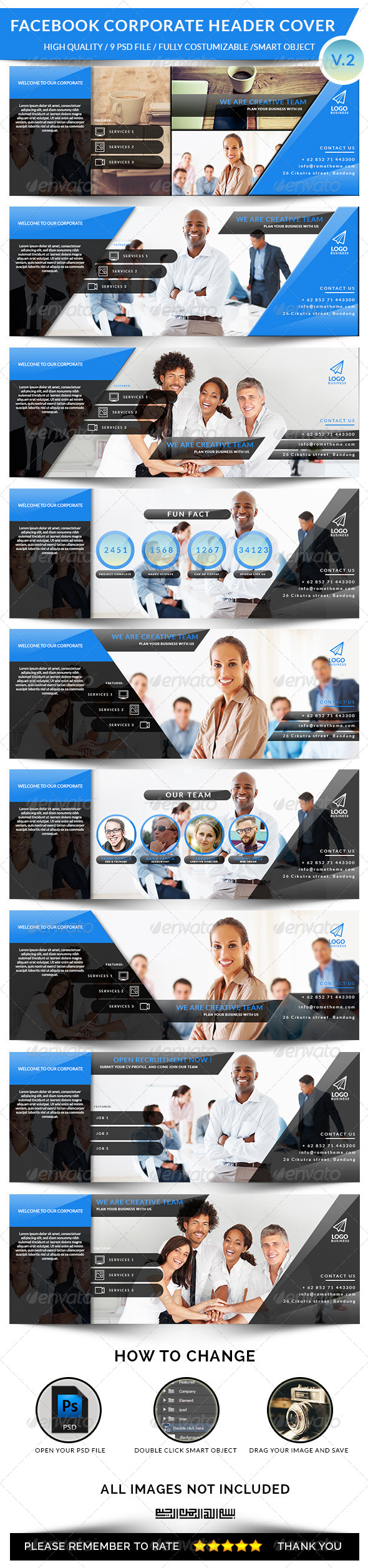 GraphicRiver Facebook Corporate Header Cover V.2 8496194