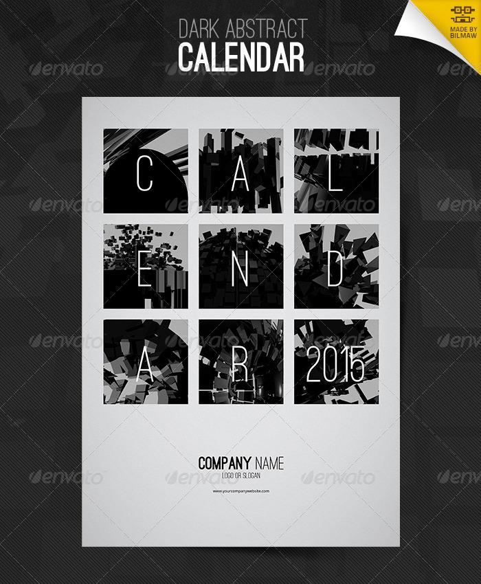 Dark Abstract Calendar