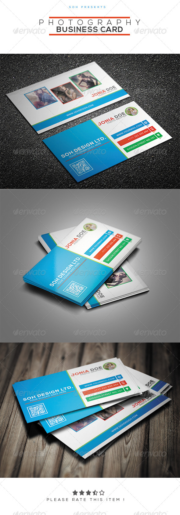 GraphicRiver Photography Business Card Template 8496550