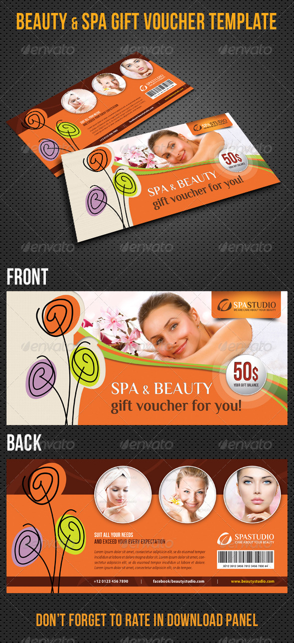 GraphicRiver Beauty and Spa Gift Voucher V28 8496737