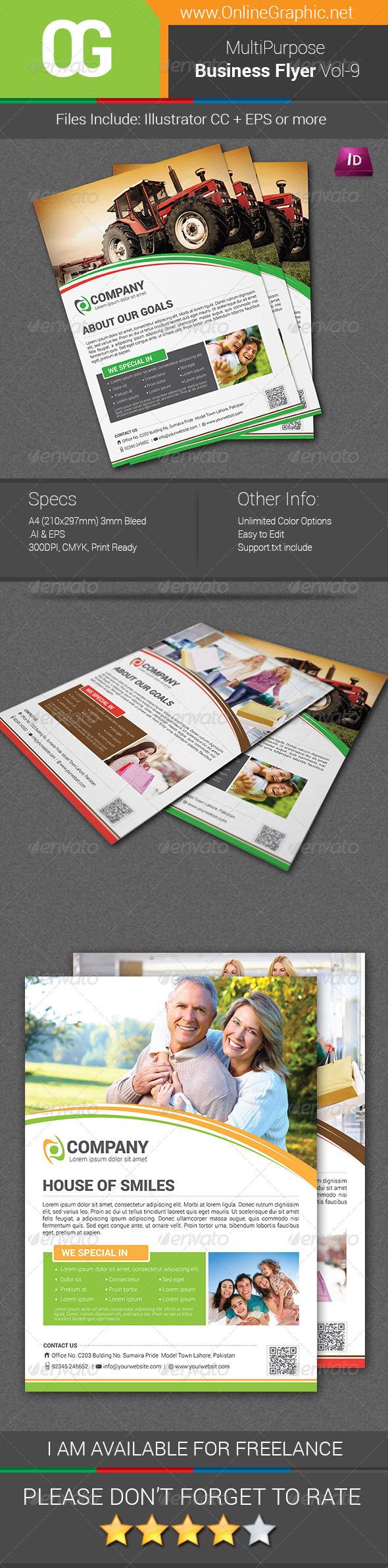 GraphicRiver Multipurpose Business Flyer Vol-09 8496872