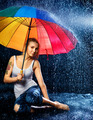 Girl Under Rain - PhotoDune Item for Sale