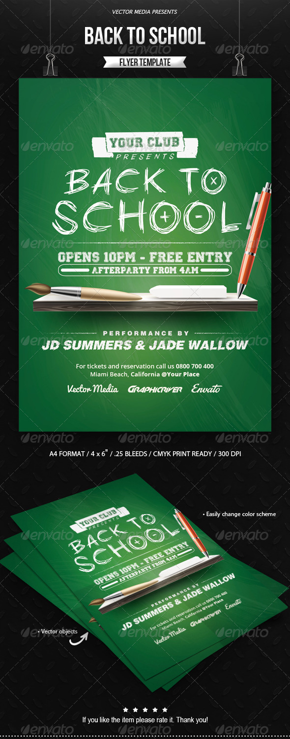 GraphicRiver Back to School Flyer 8497105