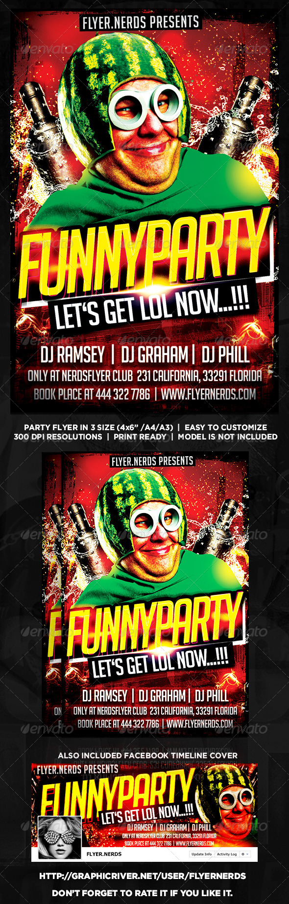 GraphicRiver Funny Party Night Flyer 8497108