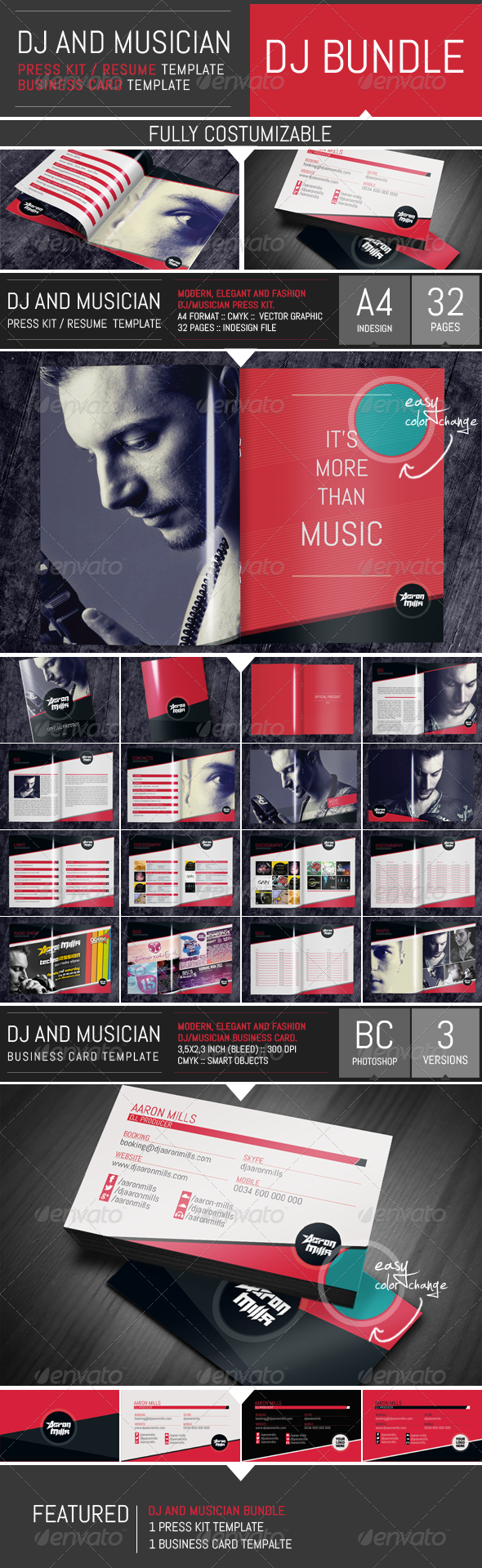 Indesign press kit templates stock for Dj press kit template free