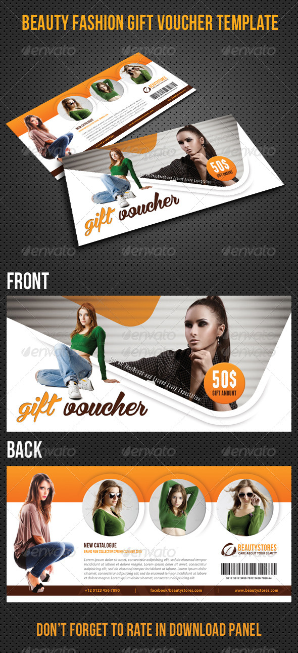 GraphicRiver Beauty Fashion Gift Voucher V29 8497823