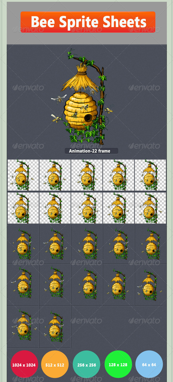 GraphicRiver Bee Sprite 8497825