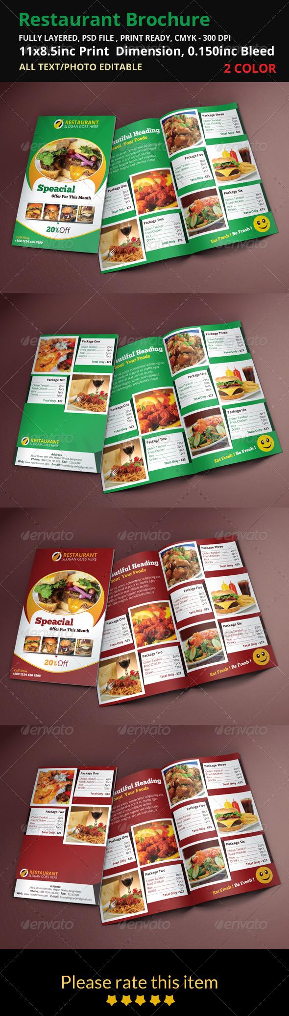 GraphicRiver Restaurant Brochure 8496136