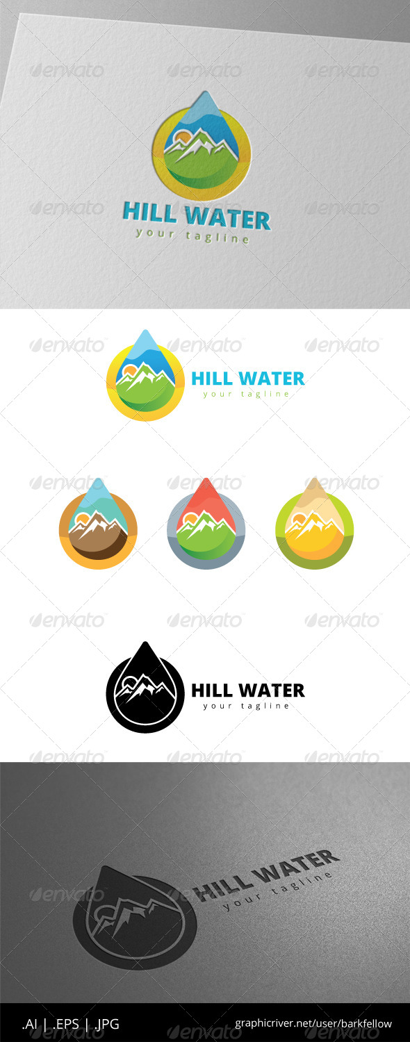 GraphicRiver Hill Mountain Fresh Water Logo 8497896