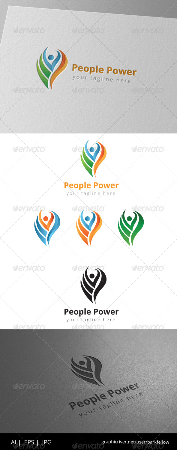 GraphicRiver People Rise Fire Logo 8497926