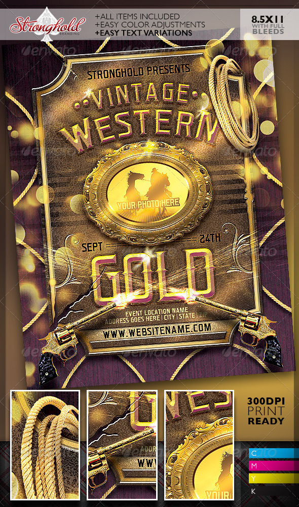 GraphicRiver Western Flyer Gold Event Template 8497996