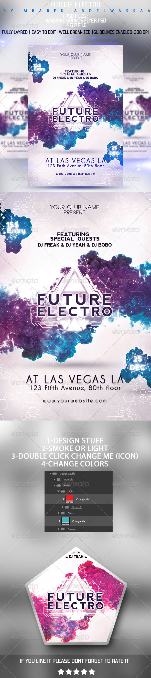 GraphicRiver Future Electro Flyer 8498067