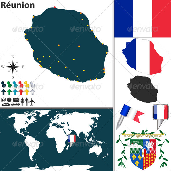 GraphicRiver Map of Reunion 8498115