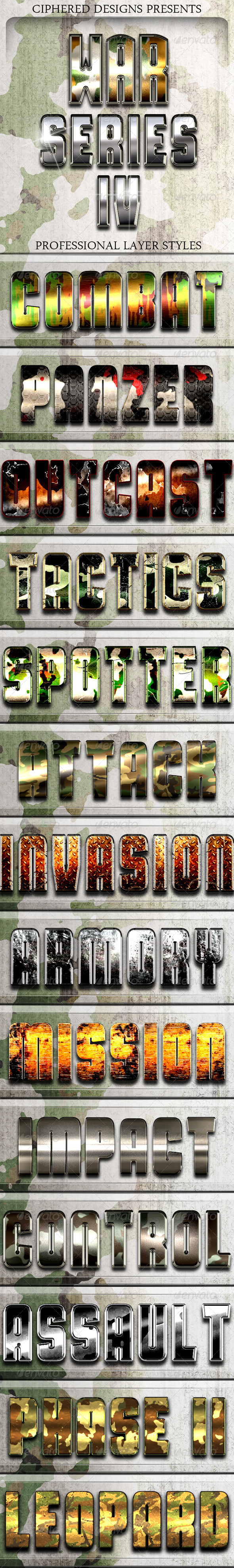 GraphicRiver War Series 4 Pro Text Effects 8498117