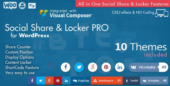 Social Share & Locker Pro WordPress Plugin - CodeCanyon Item for Sale